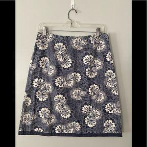 Boden Cotton Floral Lined Skort 12R